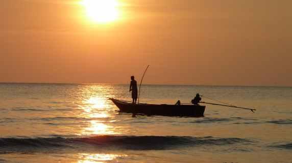 fishing sea nature sky